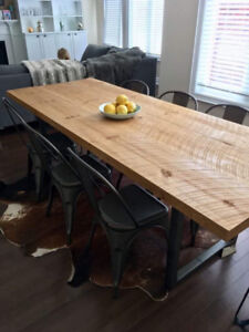 Custom made solid  tables