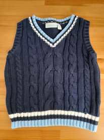12-18m baby boy JoJo Maman Bebe sleeveless jumper