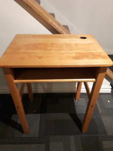 Antique wood school desk