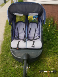 Double stroller and kids toys