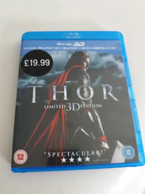 Thor (Limited 3D Edition) Blu-ray discs