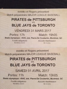 BASEBALL-BLUE JAYS vs PIRATES -Montreal