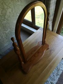 Wooden pivot dressing table mirror