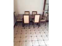 Kitchen Table and 6 Matching Chairs