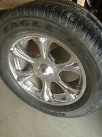 Alloy mag wheels and tires.