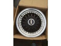 """Golf mk1 bmw e30 BBS alloy wheels replicas 15"""" good condition"""