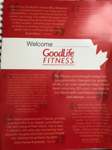 GoodLife personal training transfer