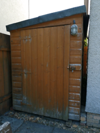 Garden Shed Pent Roof Tongue and Groove