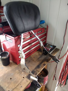 Passenger Backrest and docking hardware