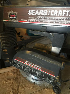 Craftsman 10 inch Radial Arm Saw and Base Cabinet