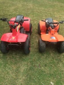 Pair of 50 cc atv Suzuki and super mite