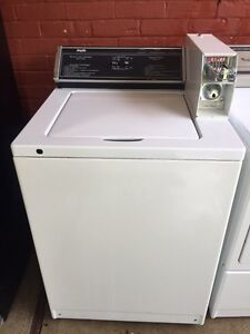 Coin operated refurbed washer and dryer set