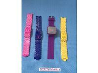 LED Light Wrist Watches purple yellow blue pink New