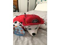 Paw Patrol Pillow Pets. Chase and Marshall. £8 each
