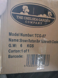 For Sale Brand New and Boxed Chelsea Furniture Rattan table / chiller