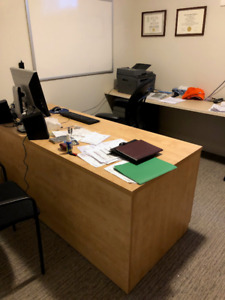Office Desk and Book Shelves/Drawers
