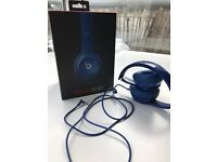 Beats Solo2 wired blue headphones like new
