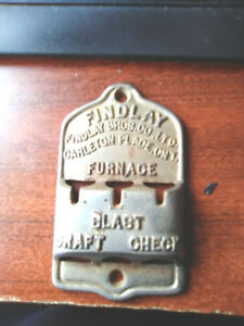 FINLAY BROS, CARLETON ONTARIO CAST IRON FURNACE REGULATOR PLATE