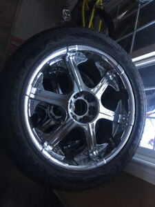 """22"""" AMERICAN RACING RIMS WITH BRAND NEW GOODYEAR TIRES"""