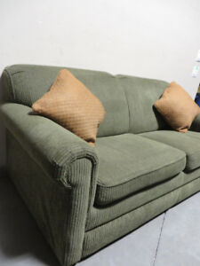 ~~~Used Sofa Bed With New Simmon Pock Coil Mattress