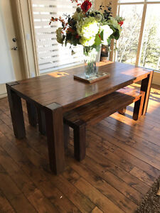 Wooden Table and Bench for Sale