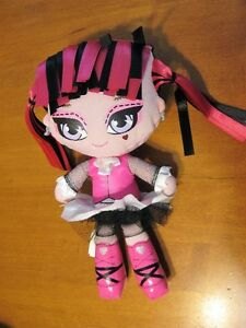 "MONSTER HIGH PLUSH RAG DOLL 10"" DRACULAURA"