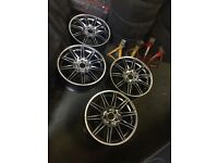 "**Genuine 19"" bmw mv4 alloy wheels with 4 decent runflat tyres**"