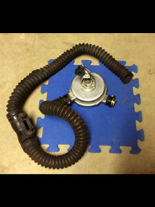 Vintage US Divers scuba double hose regulator