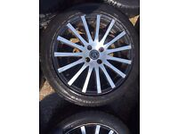 "17"" WOLFRACE ALLOY WHEELS MINT CONDITION ASTRA, CORSA, CLIO, MAGANE, CIVIC, SET OF 4"