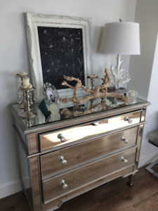 mirrors and framed items