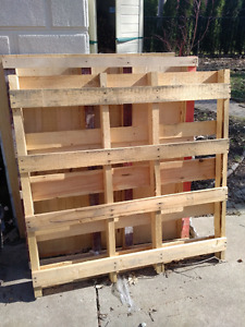 Wood pallets - free