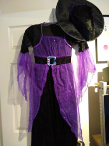 Witch Halloween costume for 8-10yr old $10