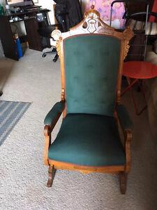 Gorgeous Antique Platform Rocking Chair