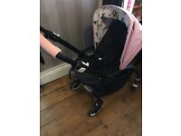 Bugaboo bee 3 with sold out rare Andy Warhol butterfly hood