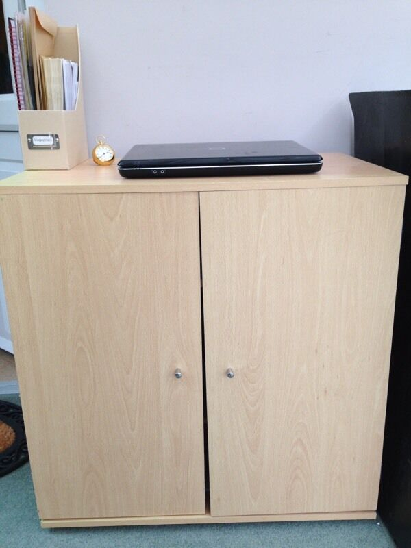 Sold Beech Computer Desk Unit Hideaway In Leicester