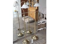 Lamps with shades X2 with white glass shades