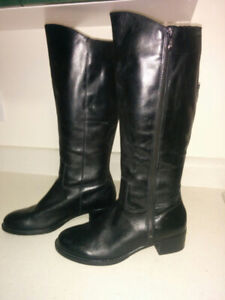 "NEW, Black Leather ""Franco Sarto"" Riding Boots"