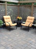 Patio furniture just chairs
