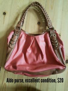 Coral coloured Aldo bag