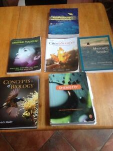 Pre- health English and abnormal psych books