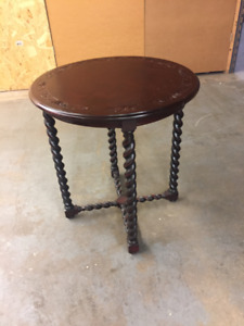 Walnut Round Side Table