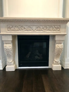 FIREPLACE MANTEL in stone for sale