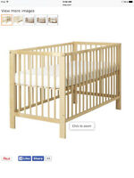 IKEA birch crib, simple and functional