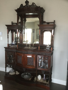 ANTIQUE, 1860 circa china cabinet,old as Canada. Price reduced