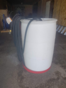 MOBILE WATER TANK UNIT with PUMP and HOSE
