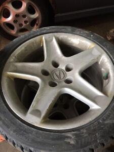 Pneus mag hiver Acura  235 45 17 Blizzak Bridgestone