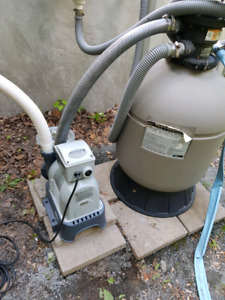Intel pool pump with sand filter