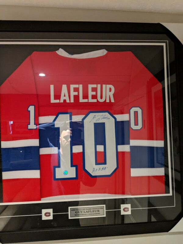 10724f658 Guy LaFleur Montreal Canadiens Autographed Retro CCM Hockey Jers ...