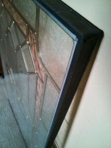 Stained Glass Door Insert 22 x 36 - $75