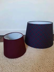 2 lamp shades (tartan)